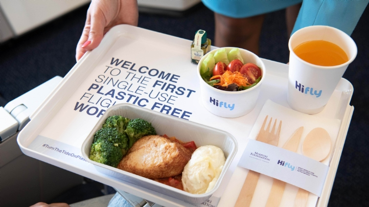 Alternatives have been found for items such as cutlery and cups. Image: Hi Fly