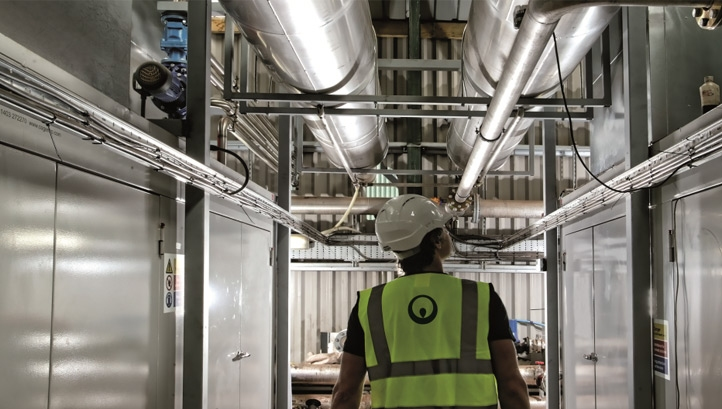 Pictured: A staff member in one of Veolia's energy-from-food-waste facilities