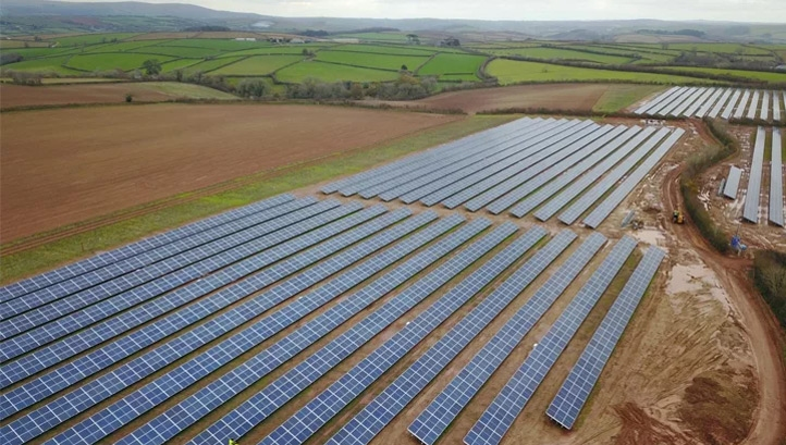 The 7.3MW Creacombe community solar farm. Image: CORE