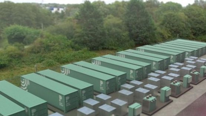 Pivot Power is aiming to develop 2GW of grid-scale energy storage arrays in the UK by 2030. Pictured: An artist's impression of Pivot Power's planned Southampton site