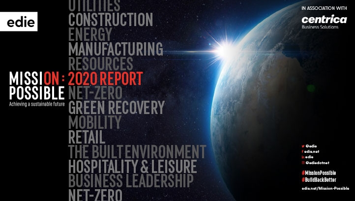 edie's Mission Possible 2020 report explores how net-zero can be achieved across six industries: utilities, manufacturing, construction, retail, hospitality & leisure, and the Public Sector