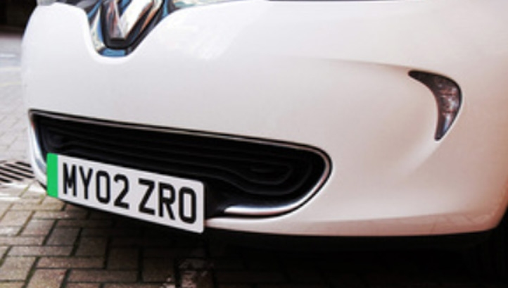 The plates will first be applied to new zero-emission vehicles this autumn. Image: DfT