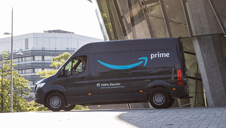 Amazon Reduces Carbon Footprint With Electric Delivery Vans
