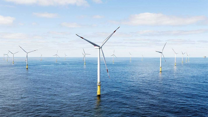 Pictured: The Walney Extension offshore wind farm