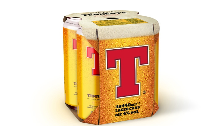 According to Tennent's, the new equipment will remove 150 tonnes of plastic from Tennent's Lager can packs by 2022