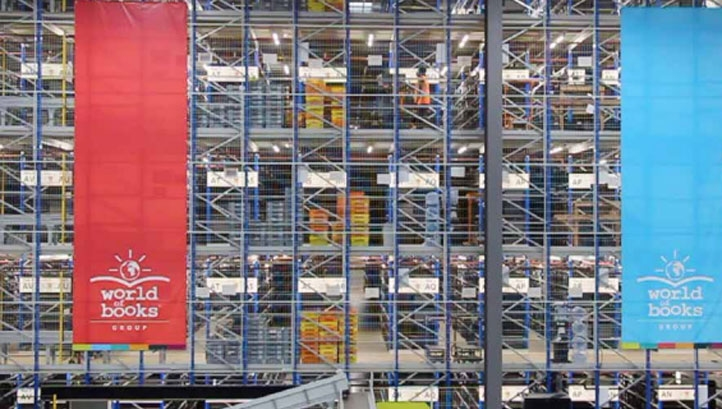Pictured: World of Books' warehouse operations
