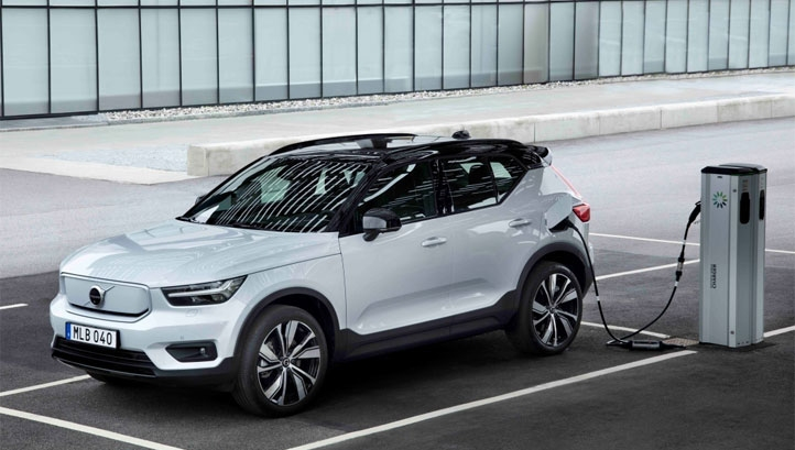 Pictured: The Volvo XC40 Recharge. Volvo is one of the 27 business signatories