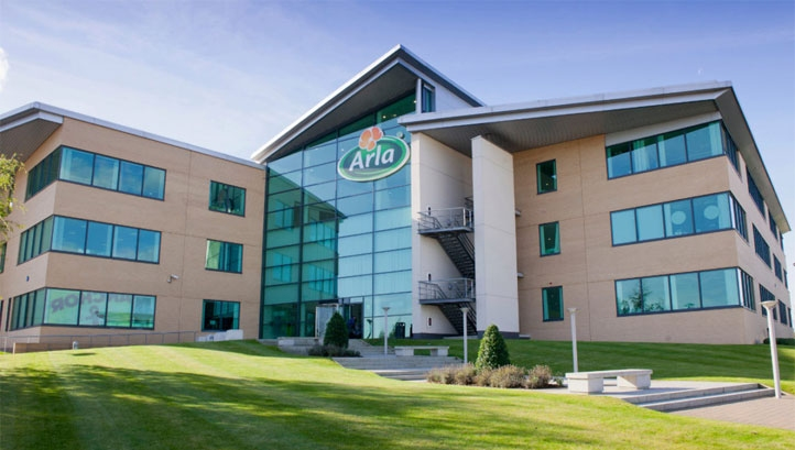 "Thousands of farms across Europe form Arla's supply chain, which it describes as a ""micro food system"""