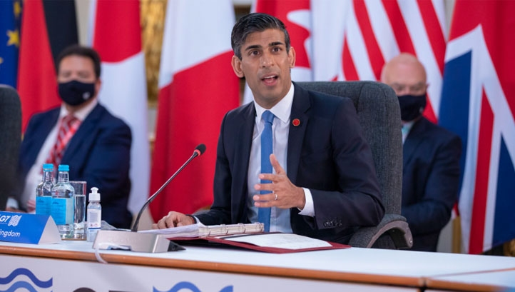 Pictured: Chancellor Rishi Sunak at the recent G7 Finance Ministers' Meeting. Image: HM Treasury, CC BY-NC-ND 2.0