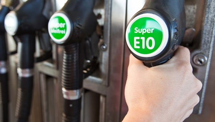 The ethanol used to make E10 is derived fromlow-grade grains, sugars and waste wood
