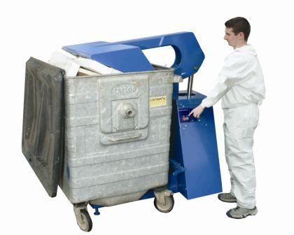 Durapac Mod. 1100 Lt Bin Press - Vertical Waste Compactor