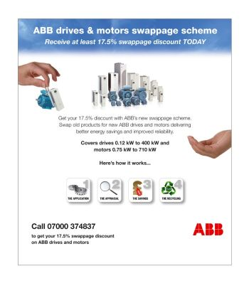 ABB launches drives and motors swappage scheme