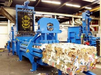 Shear Baler for Producing Mill Sized Bales