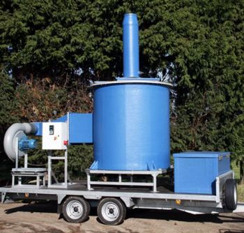 Mobile test unit/temporary odour control system