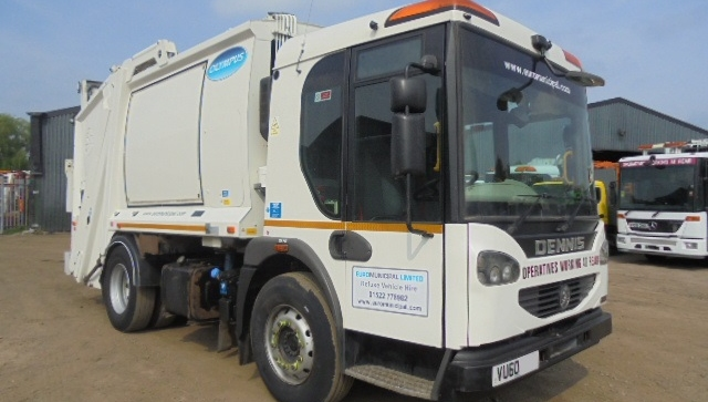 FOR SALE: 2010 YEAR 18T 4X2 DENNIS REFUSE VEHICLE WITH OLYMPUS BODY AND TERBERG LIFT