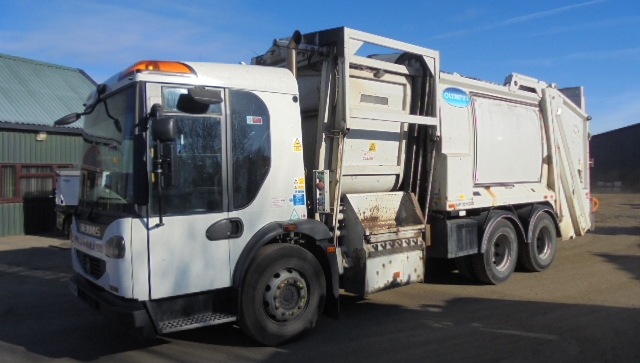 FOR SALE: 2010 YEAR 6X4 EURO 5 DENNIS DUO RCV WITH FOOD RECYCLING POD, OLYMPUS BODY AND TERBERG LIFT