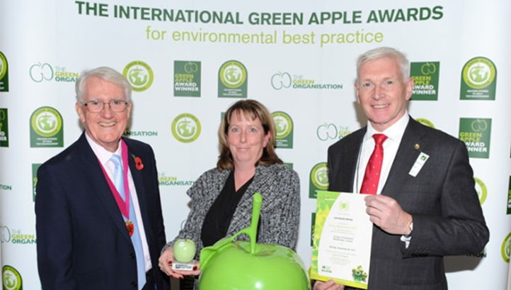 Holders of The Planet Mark  GreenZone and Exterion Media win Green Apple sustainability awards