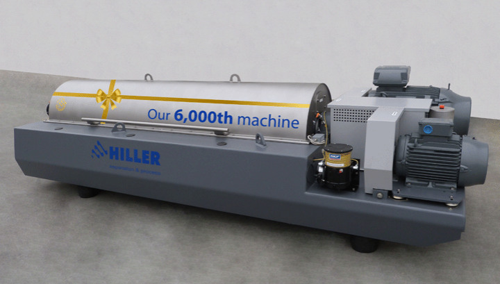 Hiller GmbH announce the manufacture their 6,000th Decanter centrifuge