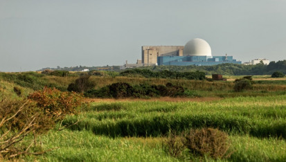 Sizewell nuclear power station located in Suffolk