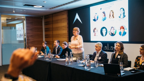 The panel included representatives from the finance, environmental services, engineering, cement, food manufacturing and retail sectors. Image: Aldersgate Group