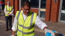 Sharma visited Instagroup in Wokingham. Image: Gov.uk