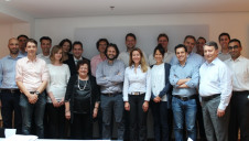 The REvivED water team, led by project co-ordinator Natalie Tiggelman, Fujifilm Manufacturing Europe (centre, twelfth from left), at its kick off meeting in Belgium
