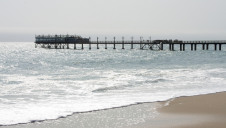 The pier at Swakopmund, capital city of Erongo Region, Namibia, on the coast of the Atlantic Ocean