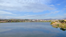 Lake Erevan, an artificial reservoir in landlocked Armenia, supplies water to residents in the capital city, Erevan