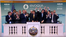 Evoqua's management team rings the opening bell at the New York Stock Exchange