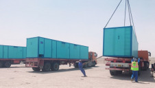 Four containerised desalination systems were provided as aid to Iraq, by neighbouring Kuwait