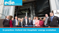 The new energy and heating infrastructure will reduce carbon emissions at the Trust by around 10,000 tonnes annually