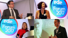 (Top-left to bottom-right): ING's Léon Wijnands, Danone's Emmanuelle Wargon, Statoil's Charlotte Wolff-Bye, and Adnams' Andy Wood spoke at the Sustainability Leaders Forum