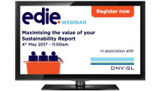 The 'Maximising the value of your sustainability report' webinar will take place on 4 May at 11am
