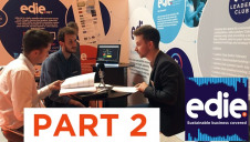 edie editor Luke (right), senior reporter Matt (left) and reporter George (centre) recorded a special two-part episode of the Sustainable Business Covered podcast from the edie Live show floor