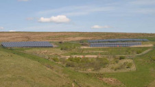 250 kWp ground mount PV system designed and installed by HBS New Energies at the Coal Authority's Deerplay Mine Water Treatment Scheme, Lancashire