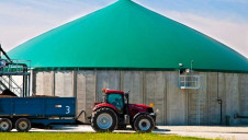 Biogas trials have been conducted by Wyke Farms tractors, but range is still an issue