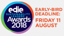 The early-bird entry deadline for the 2018 Sustainability Leaders Awards is Friday 11 August, and the standard entry deadline is Tuesday 12 September