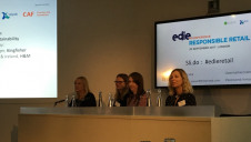 From left to right: Debenham's Caroline Haycock, BRC's Alice Ellison, Kingfisher's Jo Mourant and H&M's Catarina Midby