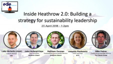 The webinar included Heathrow's chief executive John Holland-Kaye and director of sustainability Matthew Gorman, alongside Business in the Community chief executive Amanda Mackenzie and The Climate Group's corporate partnerships director Mike Peirce