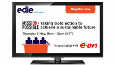 Hosted in association with E.ON Energy, edie's Mission Possible webinar will involve three speakers followed by a live audience Q&A