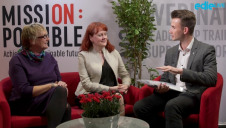(L-R): ICRS chair Anita Longley and Futerra co-founder Solitaire Townsend sit down with edie's Matt Mace in the second episode of the Mission Possible sofa interviews