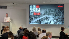 edie's insight editor George Ogleby launched the report at the 2018 edie Responsible Retail event