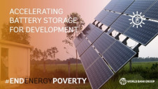 The World Bank will use the investment programme to focus on storage that supports renewable energy projects – namely hybrid solar parks and microgrids