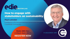 The 30-minute masterclass offers a taster of the brand new Sustainability Leadership Programme, developed by Cranfield University for edie's network of sustainability professionals