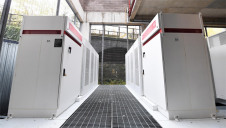 The battery storage system at the Emirates. Photo credit: Pivot Power