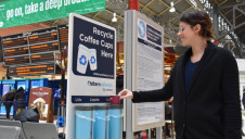 The 10 bins at Marylebone Station are anticipated to collect 300,000 coffee cups annually