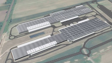 An artist's impression of the array, which is expected to begin generating power next year. Image: Audi