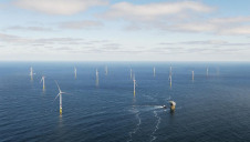 The Race Bank windfarm was commissioned last year and is capable of generating 573MW of renewable energy