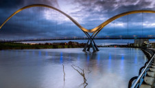 The Infinity Bridge, Teeside: The IPPR has called on government to take action to ensure a