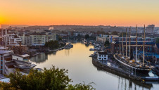 Bristol harbour - the city has a goal of becoming carbon neutral by 2030